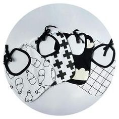 Monochrome Bib Set Can't make up your mind? Get all monochrome bibs for an affordable price. Shop: https://www.ellehq.com.au/collections/miss/products/bib-set