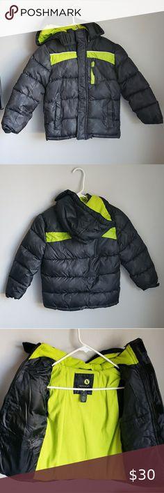 Infant /& Boys OshKosh Gray /& Navy Puffer Jacket Size 12 Months-5//6 Neon Green