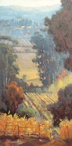 Vineyard View by Robert Sandidge Oil ~ 24 x 12