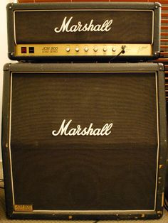 Marshall JCM 800 - Marshall Amp The sound of Rock. Not a flexible amp though, terrible clean tones, but superb crunch.