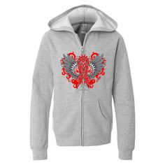 Make a strong impression for Vasculitis Awareness with our stand-out tattoo style design on hooded jacket #Vasculitisawareness #Vasculitisribbon #Vasculitistshirts
