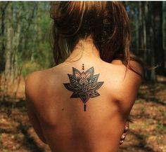 Perfect placement and size of this lotus flower tattoo >> #lotus #flowers #tattoo #inspiration #wildchild #bohemian
