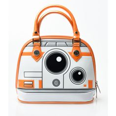 Orange Patent Star Wars: The Force Awakens Bb-8 Dome Bag (2.235 UYU) ❤ liked on Polyvore featuring bags, purses, star wars, orange, zipper bag, patent leather bags, patent bag, handle bag and orange bag