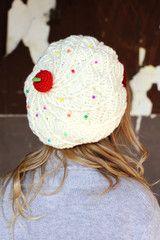 Cupcake Snow Hat