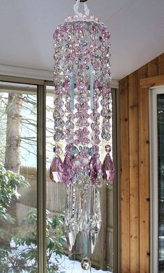 Spring Dreams Antique Crystal Wind Chime by sheriscrystals on Etsy, $184.95
