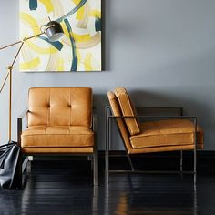 Leather Armchair, Plus 9 More Great Home Decor Buys At West Elm |  Washingtonian
