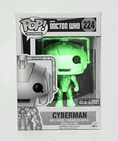 Cyberman Bbc Doctor Who Tv Funko Pop 224 Custom Glow In The Dark Doctor Who Tv Funko Bbc Doctor Who