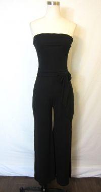White Black House Market Black Strapless One-piece Jumpsuit Romper $119.99