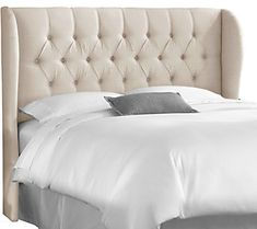 Gabby Home Maxwell Upholstered Headboard Gray Size Twin Sch 9501