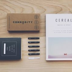 """http://public-supply.com/shop → Blaine Pannell on Instagram: """"Things (I got in New York) arranged neatly. #commoditygoods #publicsupply #cerealmag #NewYork"""""""