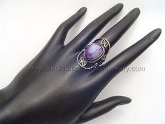 Purple Agate Stone Ring. Click the link to purchase our unique handmade Peruvian jewelry at awesome wholesale prices (includes shipping & insurance!)  Make money with your own online or offline business selling Peruvian Jewelry or save big on beautiful gifts for yourself or that special someone! Click here:  http://www.wholesaleperuvianjewelry.com/