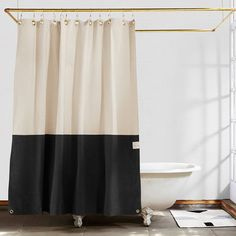 Elegant Bathroom Shower Curtain Ideas, Photos, Remodel and Design