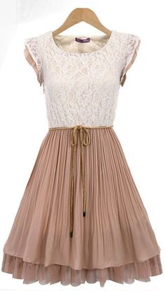 Pleated dress. I love this vintage looking dress!!!