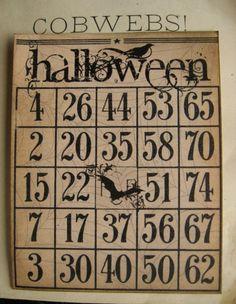 Lets play Halloween Bingo