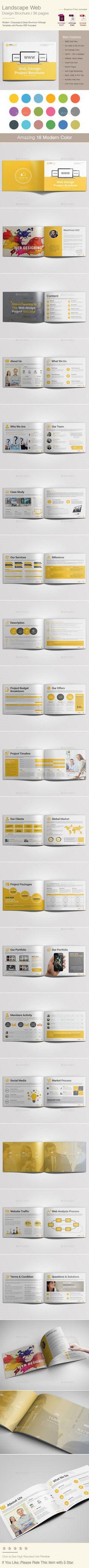 Landscape Web Design Brochure Brochure Template for