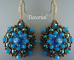 Tutorial Mandala Earrings - Beading pattern pdf