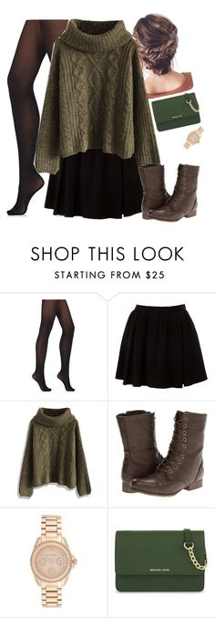 """""""Untitled #748"""" by bunnylovexox ❤ liked on Polyvore featuring Wolford, Miso, Chicwish, Madden Girl, Michael Kors, MICHAEL Michael Kors, simple, fashionset, autumnstyle and Poyvore"""