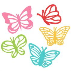 Butterfly Set SVG scrapbook cut file cute clipart files for silhouette cricut pazzles free svgs free svg cuts cute cut files