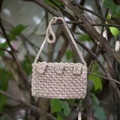 Beige Handbag knitted bag/ Elegant Purses/ by GabriCollection