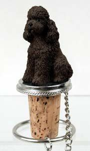 Poodle Bottle Stopper (Chocolate Sport cut) by Conversation Concepts. $11.95. Pewter Base with chain and Ring to keep it with the bottle.. Wine Save Cork. Satisfaction Guaranteed. Approximately 1.5 - 2 inches.. Made of Poly Resin and Hand Painted.. Make every event a great event with this life like critter on your cool Poodle Bottle Stopper (Chocolate Sport cut). Who could resist the charms of this cute little guy designed to fit perfectly atop any standard wine bottle. M...