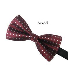 Men Adjustable Tuxedo Classic Bowtie Woven Dots Bow Tie Necktie Novelty Wedding