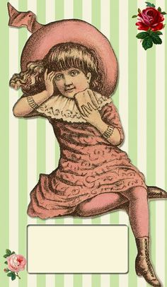 free+vintage+download_little+girl+sign.jpg (602×1038)