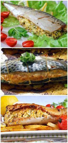 Фаршированная скумбрия. Два лучших блюда. Russian Recipes, Italian Recipes, Fish Recipes, Chicken Recipes, I Love Food, Good Food, Simply Recipes, Food Decoration, Fish Dishes