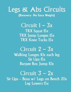 Leg & Ab Recovery Circuit