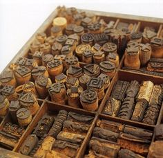 Carved stamps from old wine corks