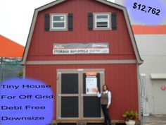 2 Floor Shed House for Debt Free Living with Plenty of Space Under Shed To Tiny House, Tiny House Cabin, Tiny House Living, Living In A Shed, Home Depot Shed, Home Depot Tiny House, Tuff Shed, Debt Free Living, Cabin Interiors
