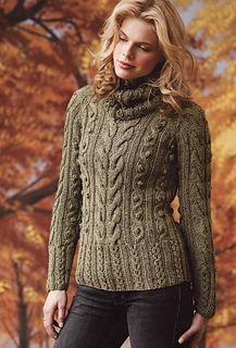 Ravelry: Cabled Tunic w/detachable cowl by Esther Yun-Mancini