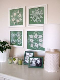 crochet doily wall hangings framed