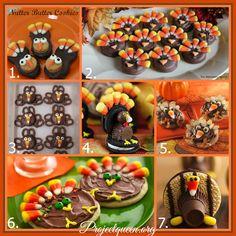 Turkey Cookie Collage