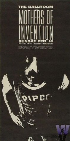 Frank Zappa and the Mothers of Invention concert poster