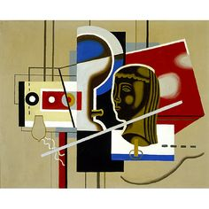Willi Baumeister, Still Life with Head; 1930; oil on. Saint Louis Art Museum