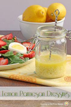 Lemon Parmesan Salad Dressing | Cooking on the Front Burner #sidedish