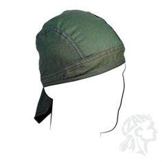 OLIVE DRAB OD ARMY GREEN Flydanna Deluxe Doo Rag Headwrap Skull Cap Biker ATV #ZanHeadgear #Flydanna