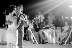 Bride and groom share their first dance during their wedding reception at Beach Palace Resort in Cancun, Mexico. Photo courtesy of #DreamArtPhotography. Special thanks to @prweddings