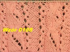 Wzór 0108*Wzór ażurowy z warkoczem*Robótki na drutach *Dzierganie - YouTube