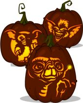 Pumpkin Carving Patterns and Stencils - Kreatures for Kids - Zombie Pumpkins!