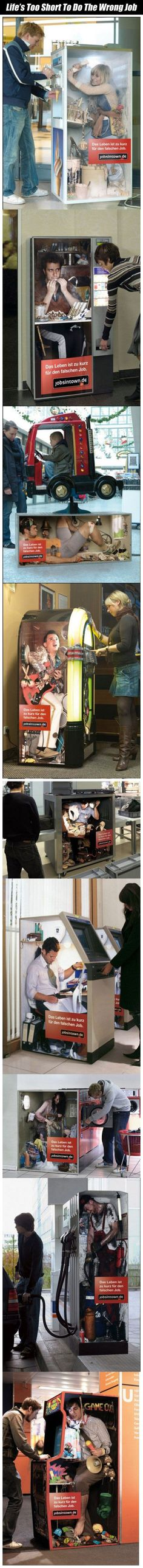 Life Is Too Short To Do The Wrong Job funny lol humor funny pictures funny photos funny images hilarious pictures