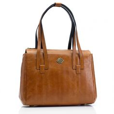 Marshall Bergman Alyssa Tan Leather Laptop Bag Macbook Bag aecd1359308ad