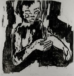 """""""Reflection"""", n.d., Letitia Hutton, American, woodcut on paper, 15 5/16 x 15 in. Gift of Helen Thrush's woodcut class, 1950. 1950.1262"""