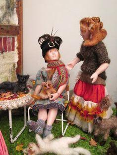 Doll by Taru Astikainen, styling by Hanna & Leijona Miniature Dolls, Harajuku, The Past, Miniatures, Portrait, Cats, Style, Swag, Gatos
