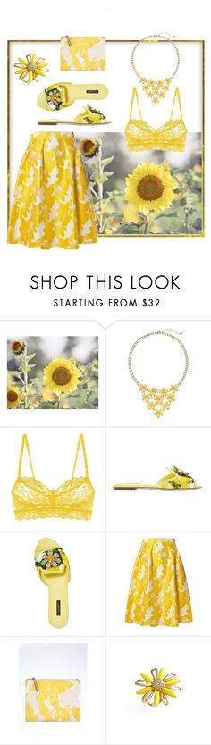 """""""Sunflower"""" by alexxa-b ❤ liked on Polyvore featuring Cosabella, Dolce&Gabbana, Dorothy Perkins, Banana Republic, Kate Spade, sunflower, sunkissed and showsomeskin"""