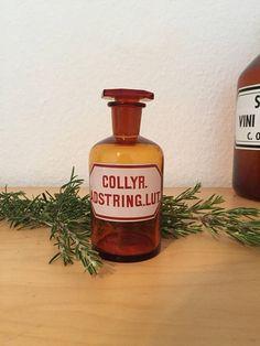 Ancien flacon d'officine bouteille d'apothicaire