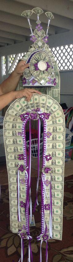 My combo money lei and tuiga...made by Agiga Auelua Alo