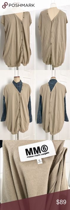 Maison Martin Margiela Asymmetrical Cardigan MM6 Maison Martin Margiela asymmetrical cardigan. Worn only a few times in excellent condition. Size M it is oversized. MM6 Sweaters Cardigans