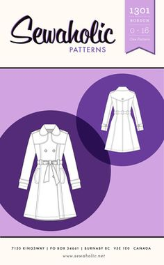 Robson Coat - Sewaholic Patterns -- Trenchcoat for Castiel cosplay?