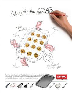 World Kitchen / Pyrex: Cookie sheet | Ads of the World™